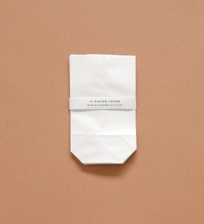 Papier-Tüten 12 Stück - weiß