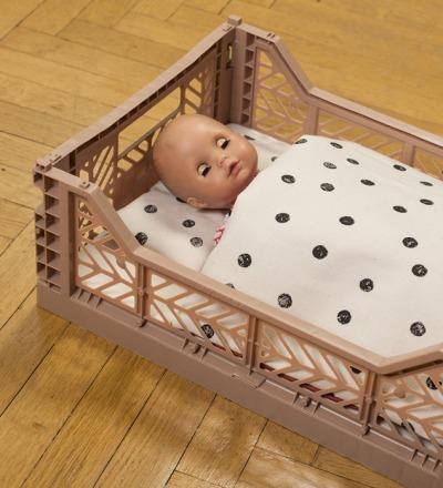 Puppenbett | Punkte - Puppenbett mit