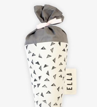 Schultüte Motiv: Dreieck Schultüte aus Stoff