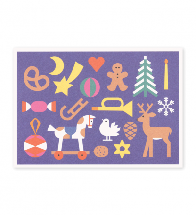 Weihnachtswimmel - Postkarte