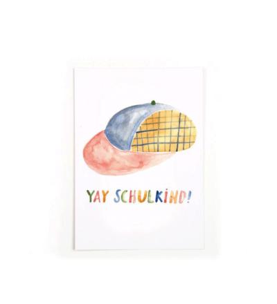 Yay Schulkind - Postkarte