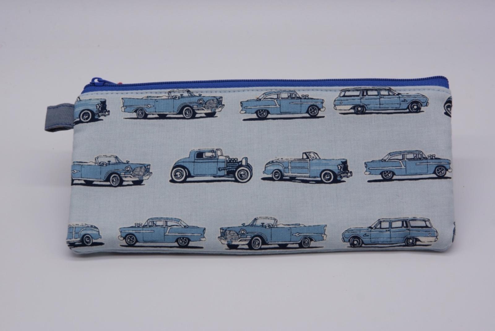 Schlampermäppchen WOODPECKER blau Autos