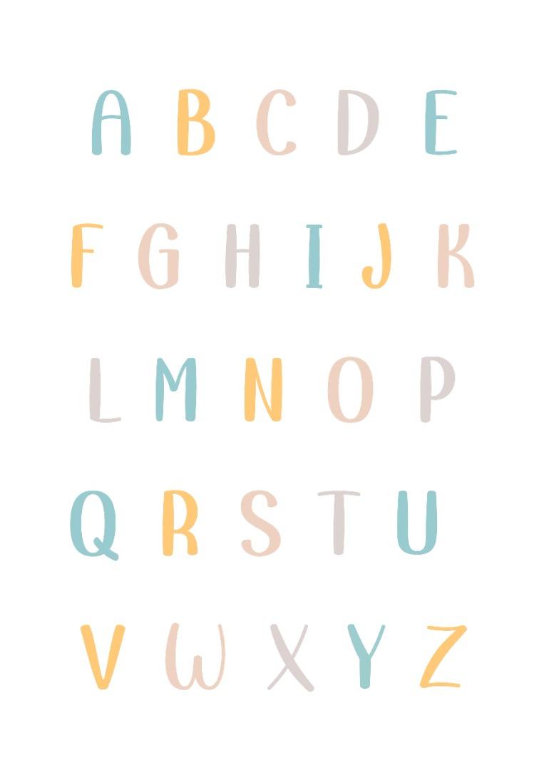 Lernposter mit Namen ABC- Poster 1x1