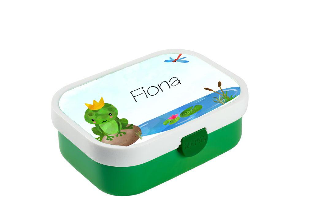 Brotdose mit Name Frosch Trinkflasche personalisiert