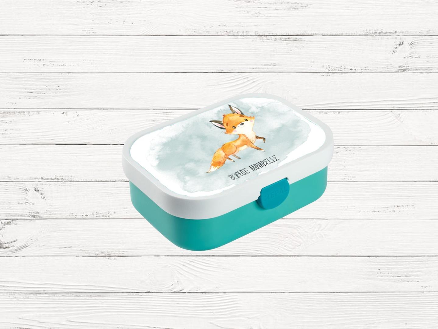 Brotdose mit Name Trinkflasche personalisiert Fuchs
