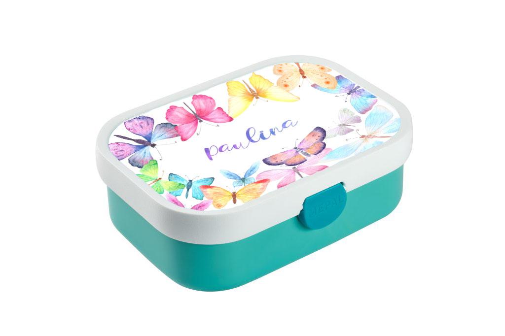 Brotdose mit Name Trinkflasche personalisiert Schmetterlinge