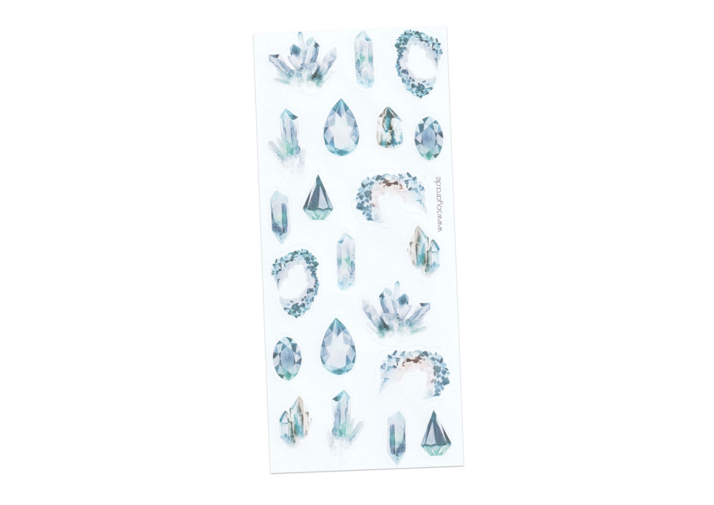 Sticker Gemstones blau 2