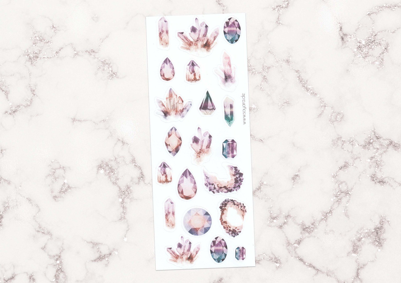 Sticker Gemstones lila