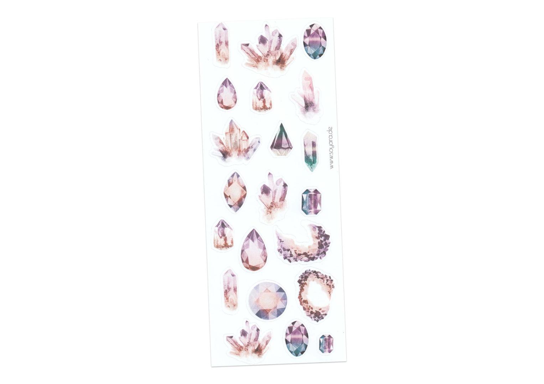 Sticker Gemstones lila 2