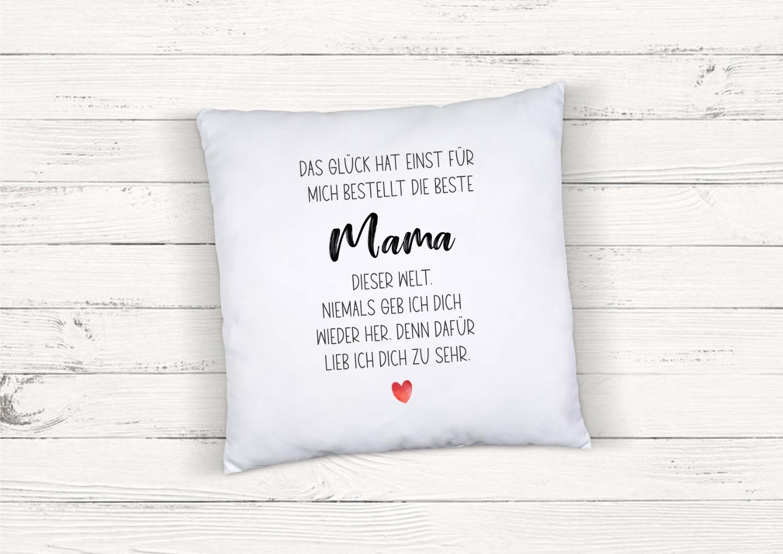 Kissen mit Spruch Beste Mama 2