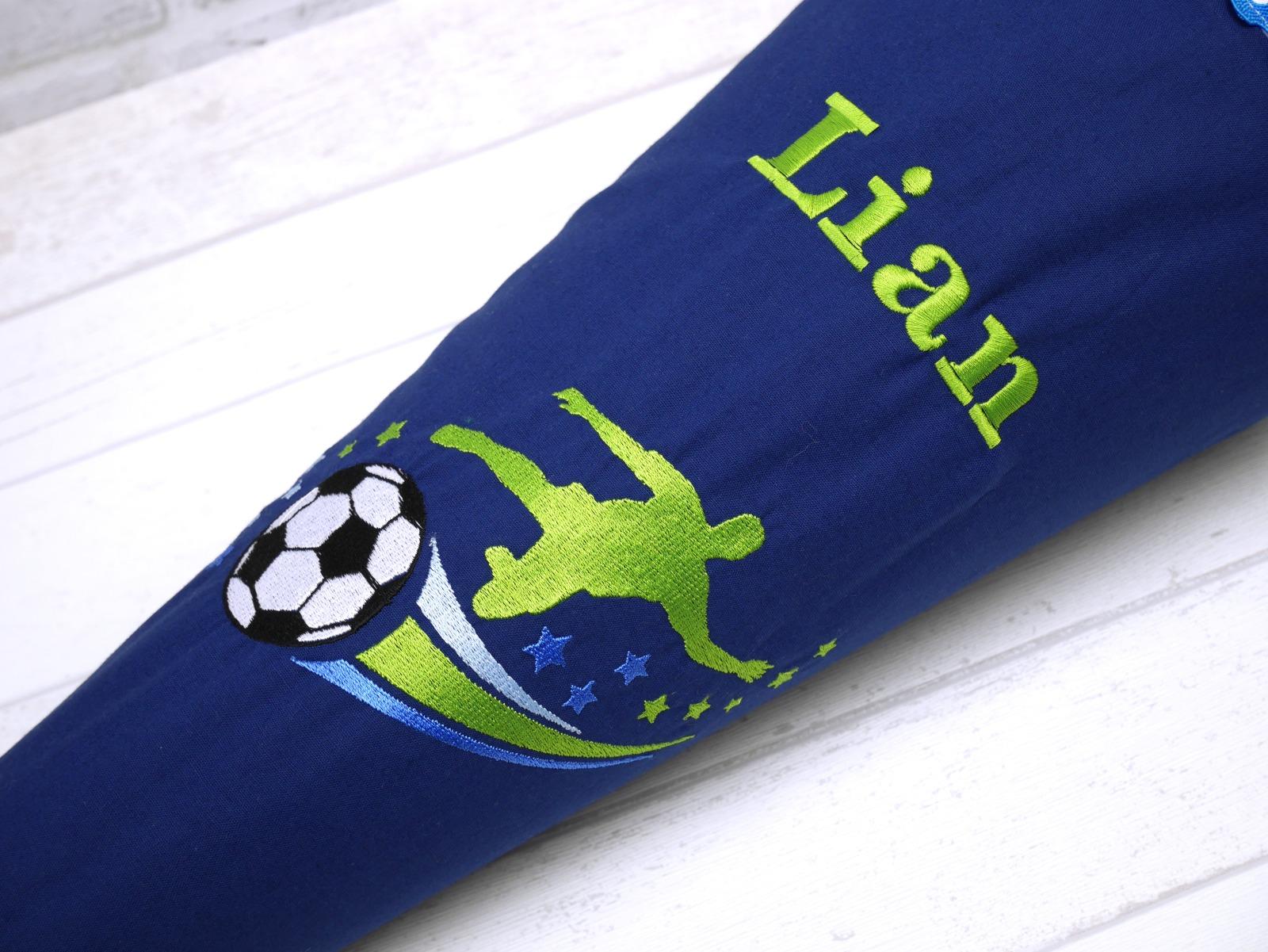 Schultüte aus Stoff Fußball Zuckertüte 2