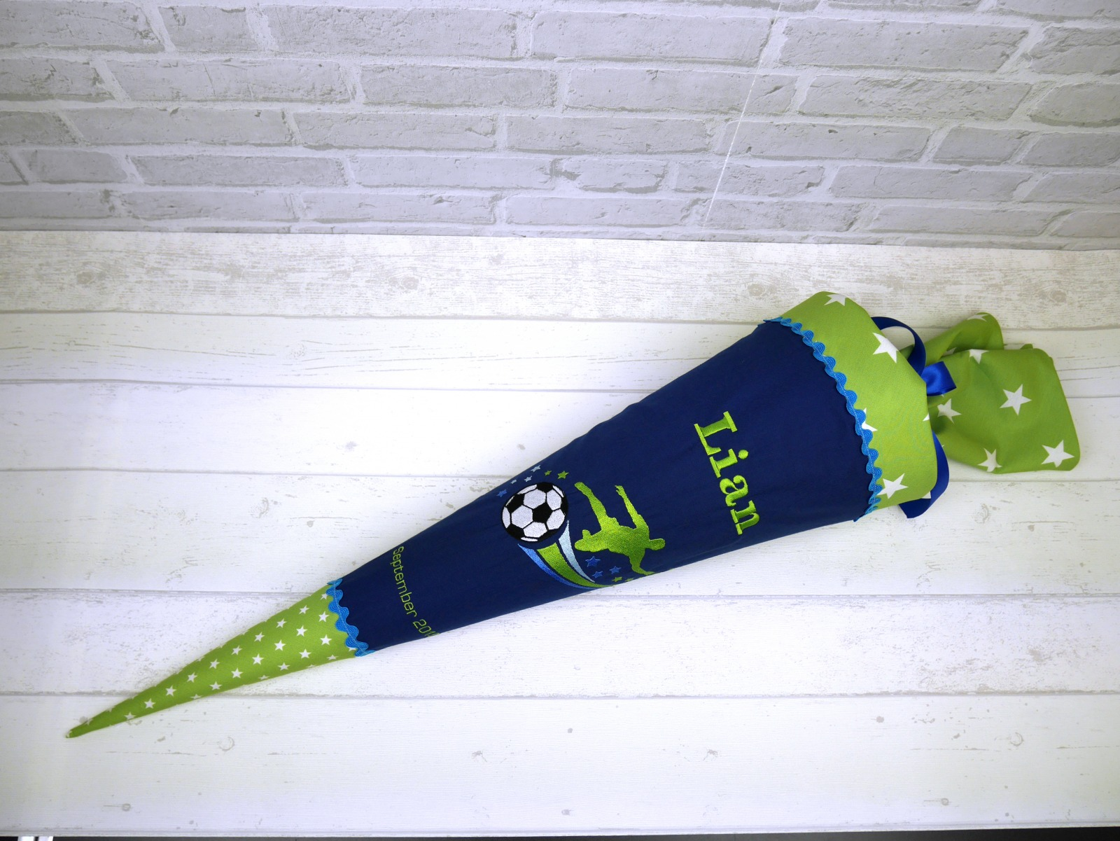 Schultüte aus Stoff Fußball Zuckertüte 3