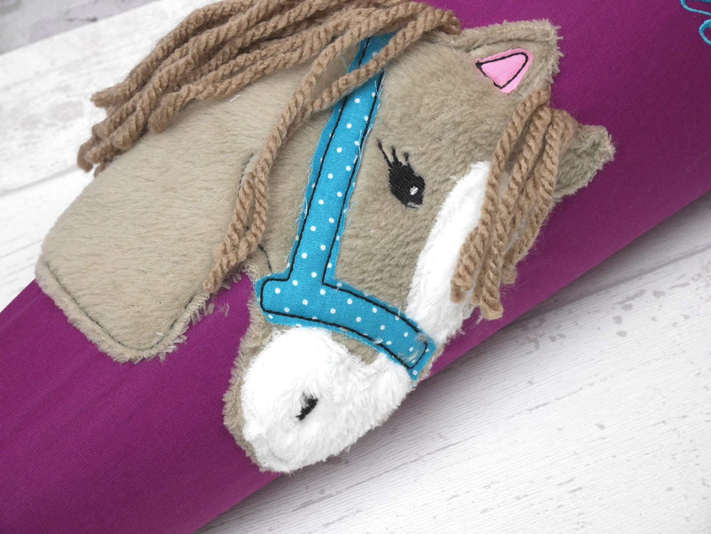 Schultüte Boho Pferd Stoff Zuckertüte Pferdekopf