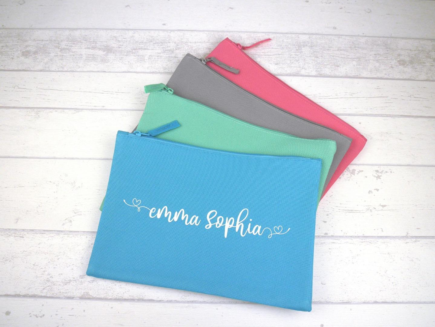 Stiftemäppchen mit Name personalisiert Farbwahl
