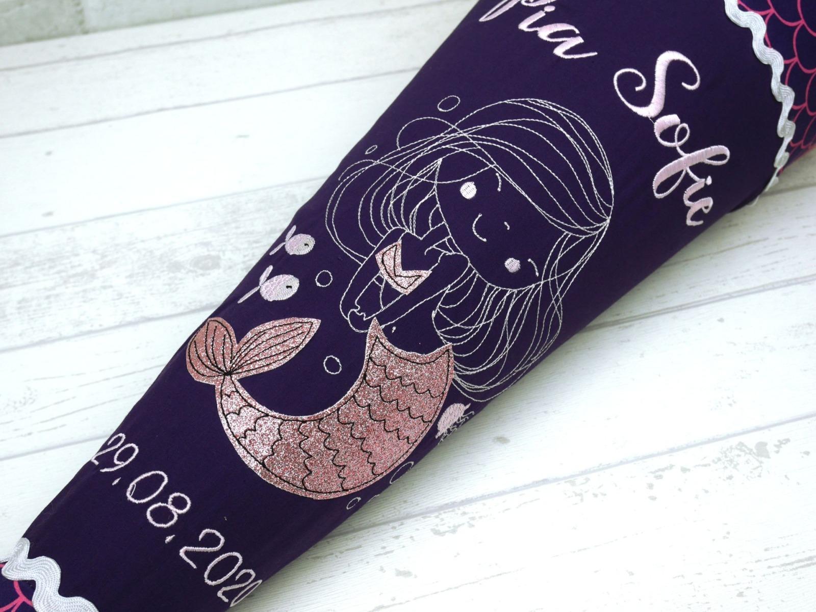 Meerjungfrau mit Glitzer Zuckertüte 2