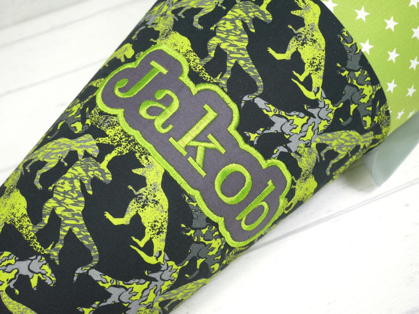Dinosaurier Schultüte aus Stoff 70cm oder