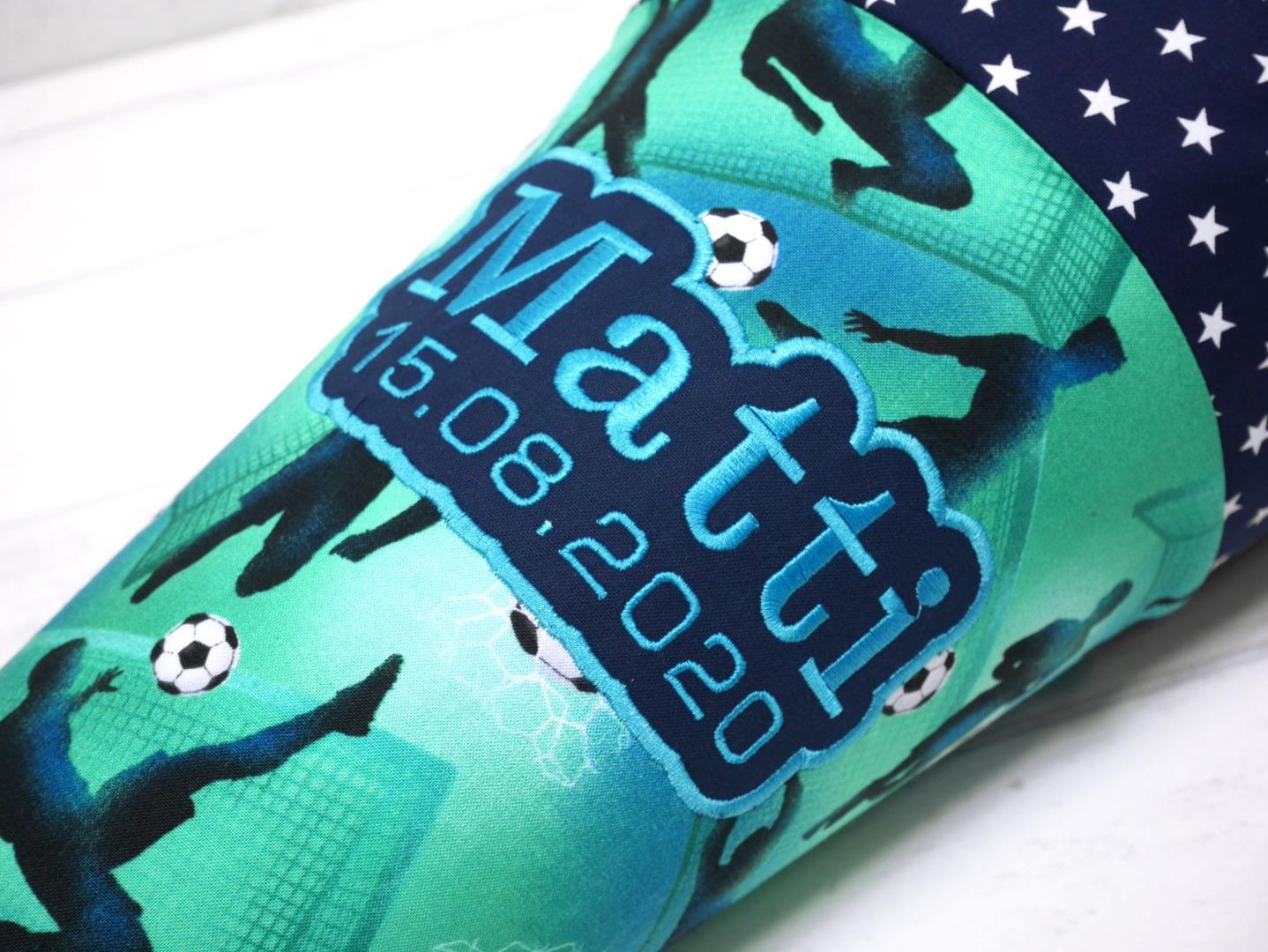 Fußball Schultüte aus Stoff 70cm oder