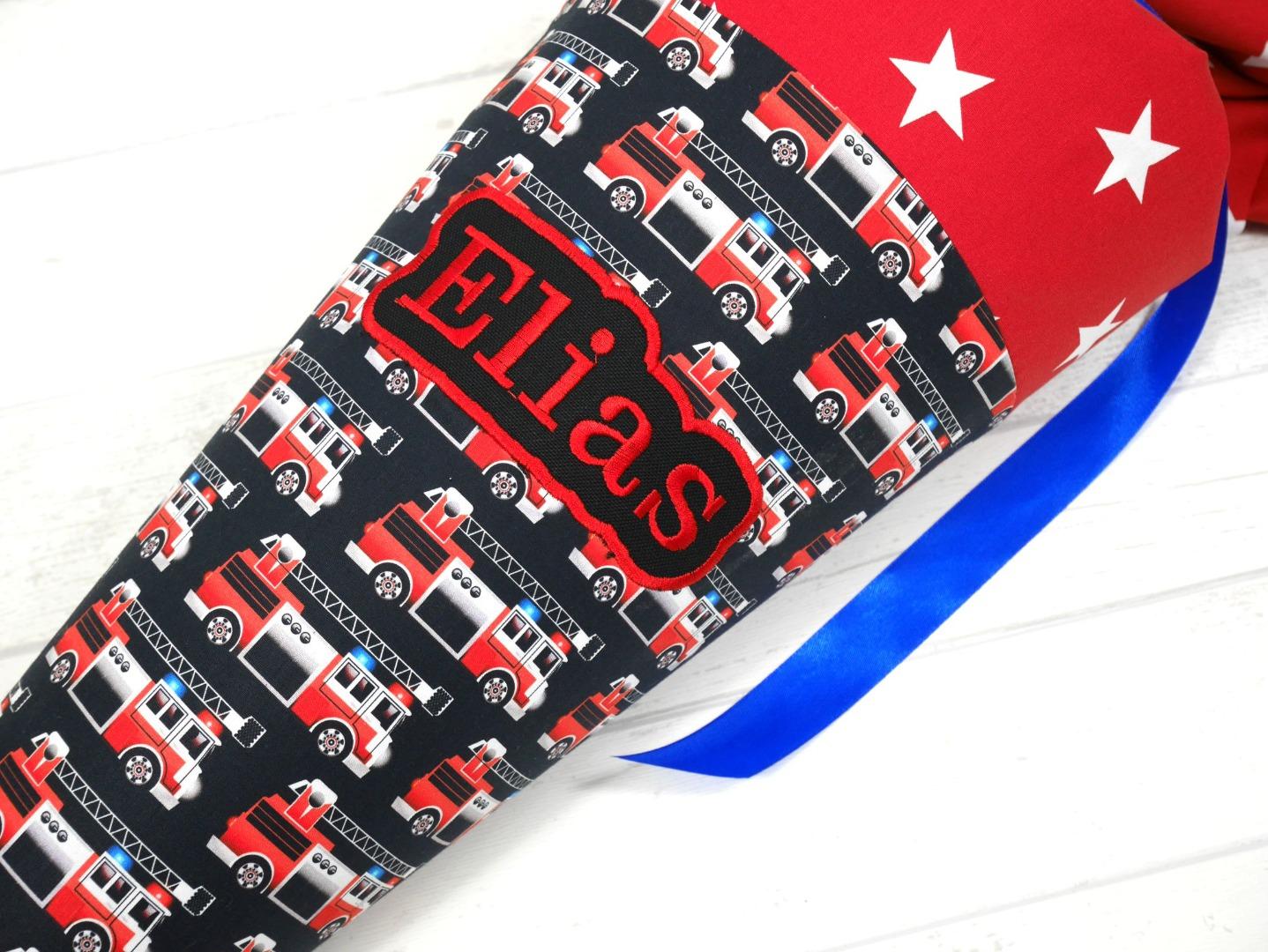 Feuerwehr Schultüte aus Stoff 70cm oder
