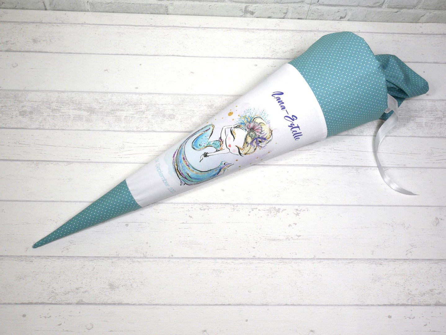 Meerjungfrau Schultüte aus Stoff 70cm mit