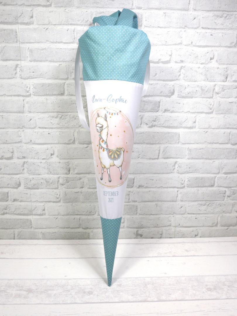 Alpaka Schultüte aus Stoff 70cm mit