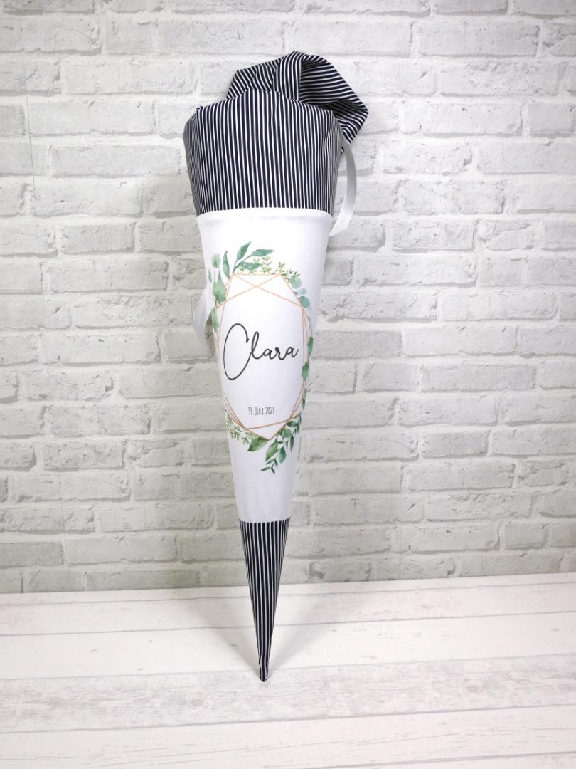 Watercolor Blumen Schultüte aus Stoff 70cm