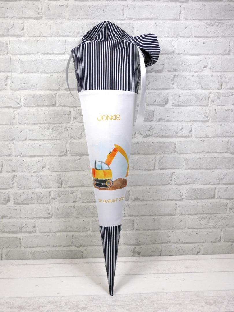 Bagger Schultüte aus Stoff 70cm mit