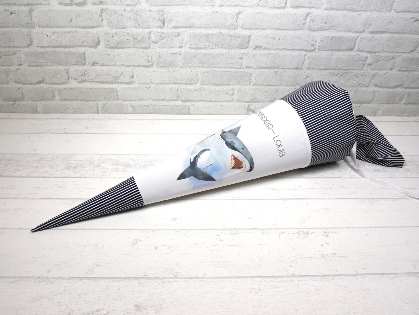 Hai Schultüte aus Stoff 70cm mit