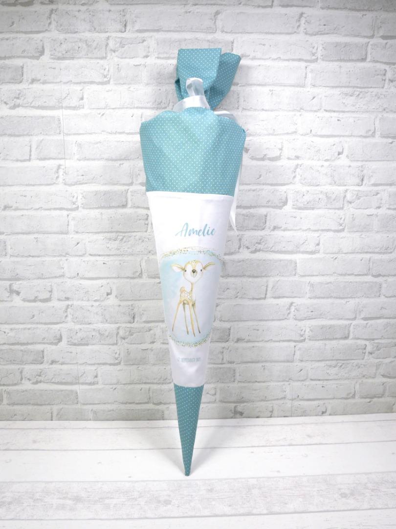 Reh Schultüte aus Stoff 70cm mit