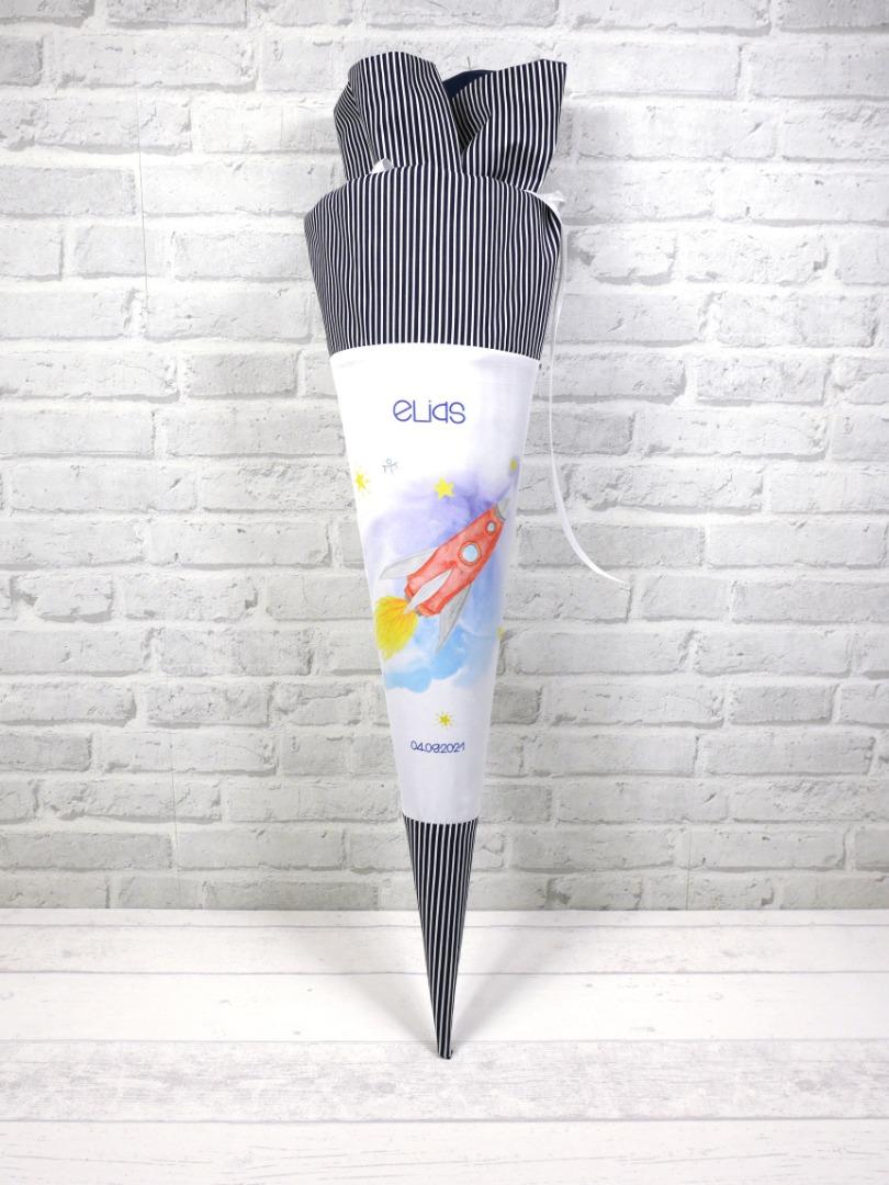 Schultüte Rakete Zuckertüte Spaceshuttle Stoffschultüte mit