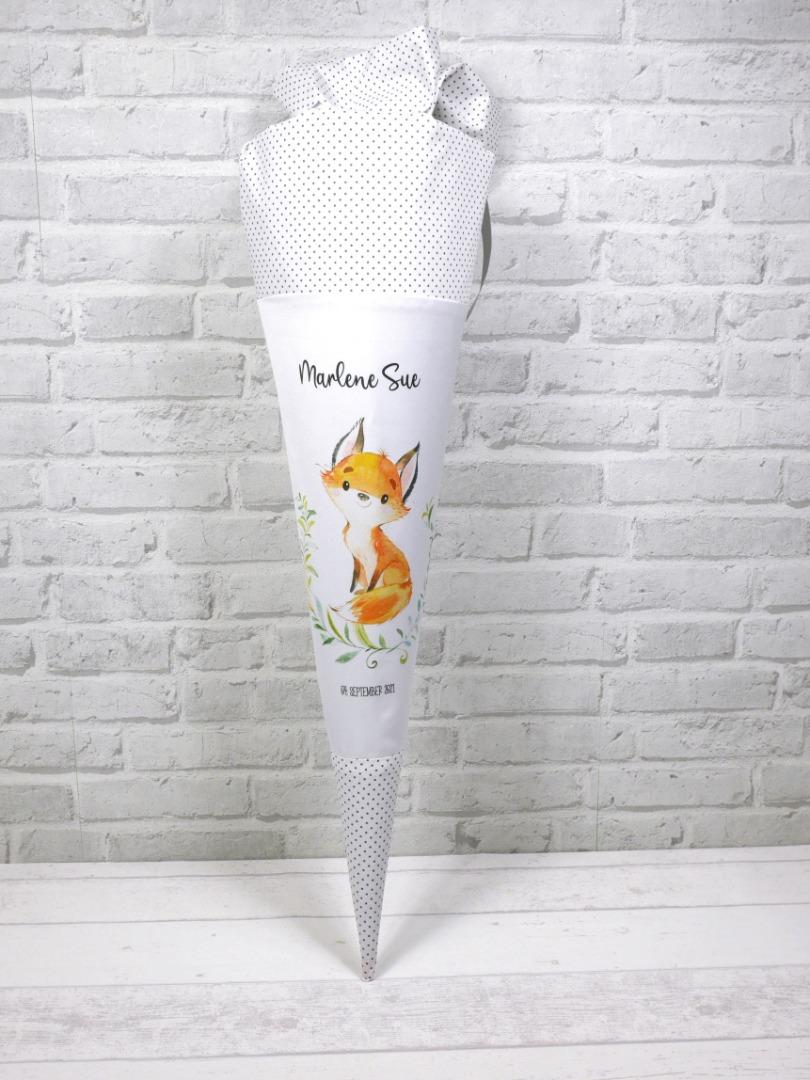 Fuchs Schultüte aus Stoff 70cm mit