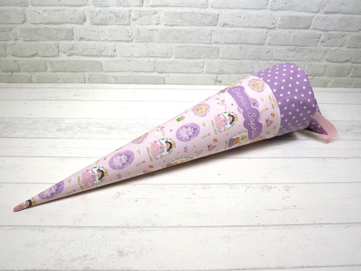 Schultüte Prinzessin aus Stoff Zuckertüte 70cm