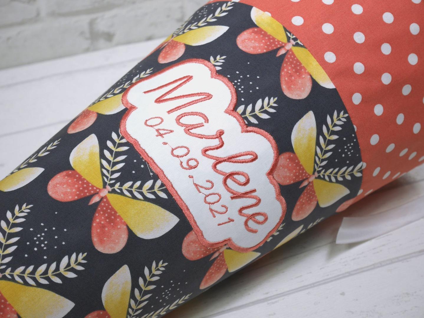 Schultüte Schmetterlinge aus Stoff Zuckertüte 70cm