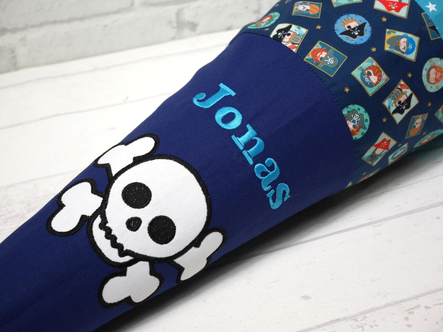 Schultüte Pirat aus Stoff Zuckertüte 70cm