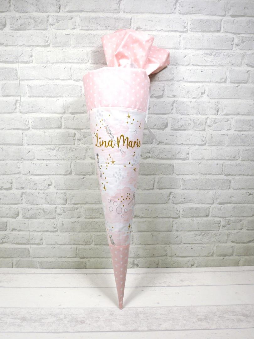Schultüte Meerjungfrau rosa aus Stoff mit
