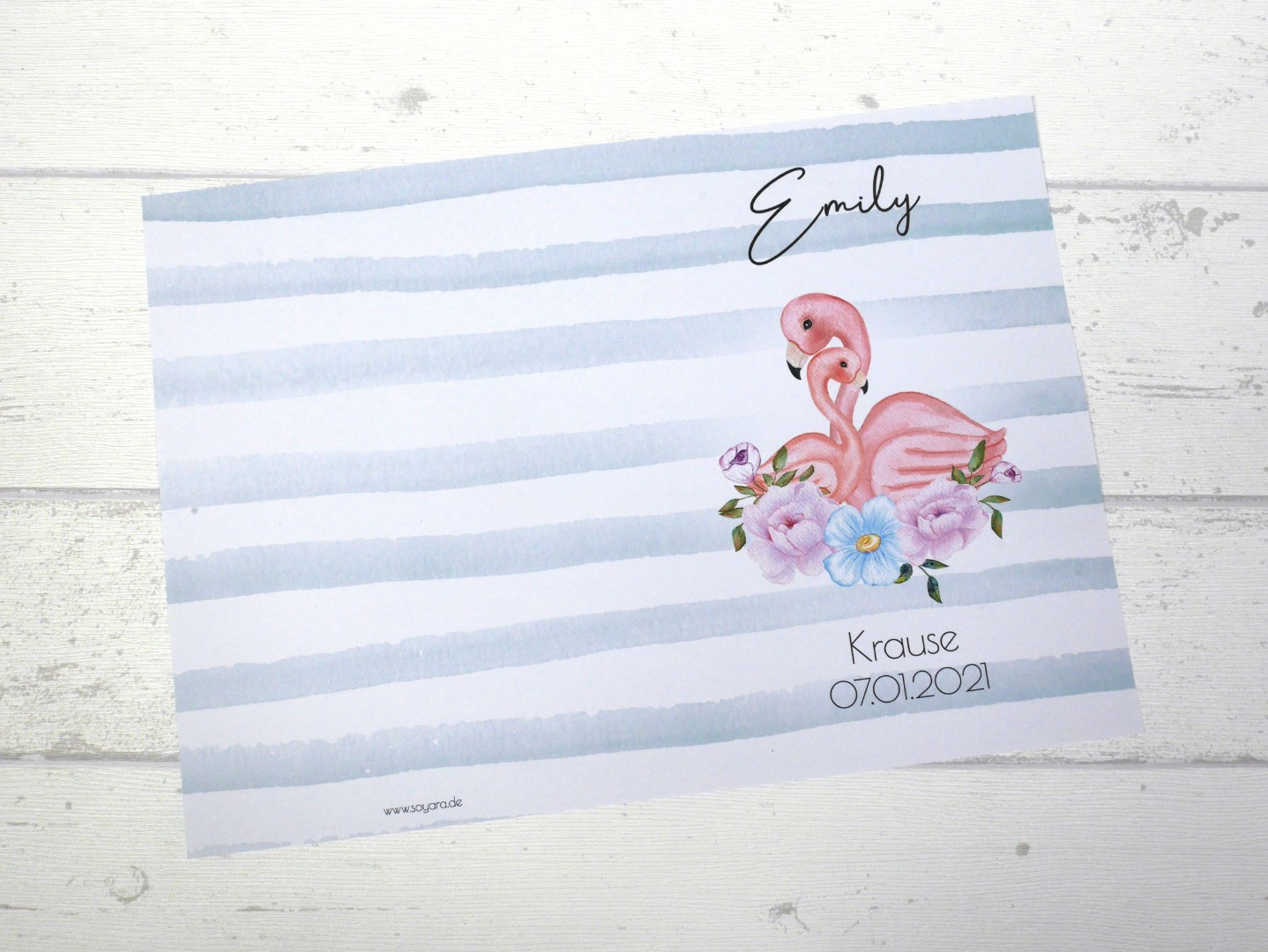 U-Heft Hülle Flamingo mit Impfpass Hülle