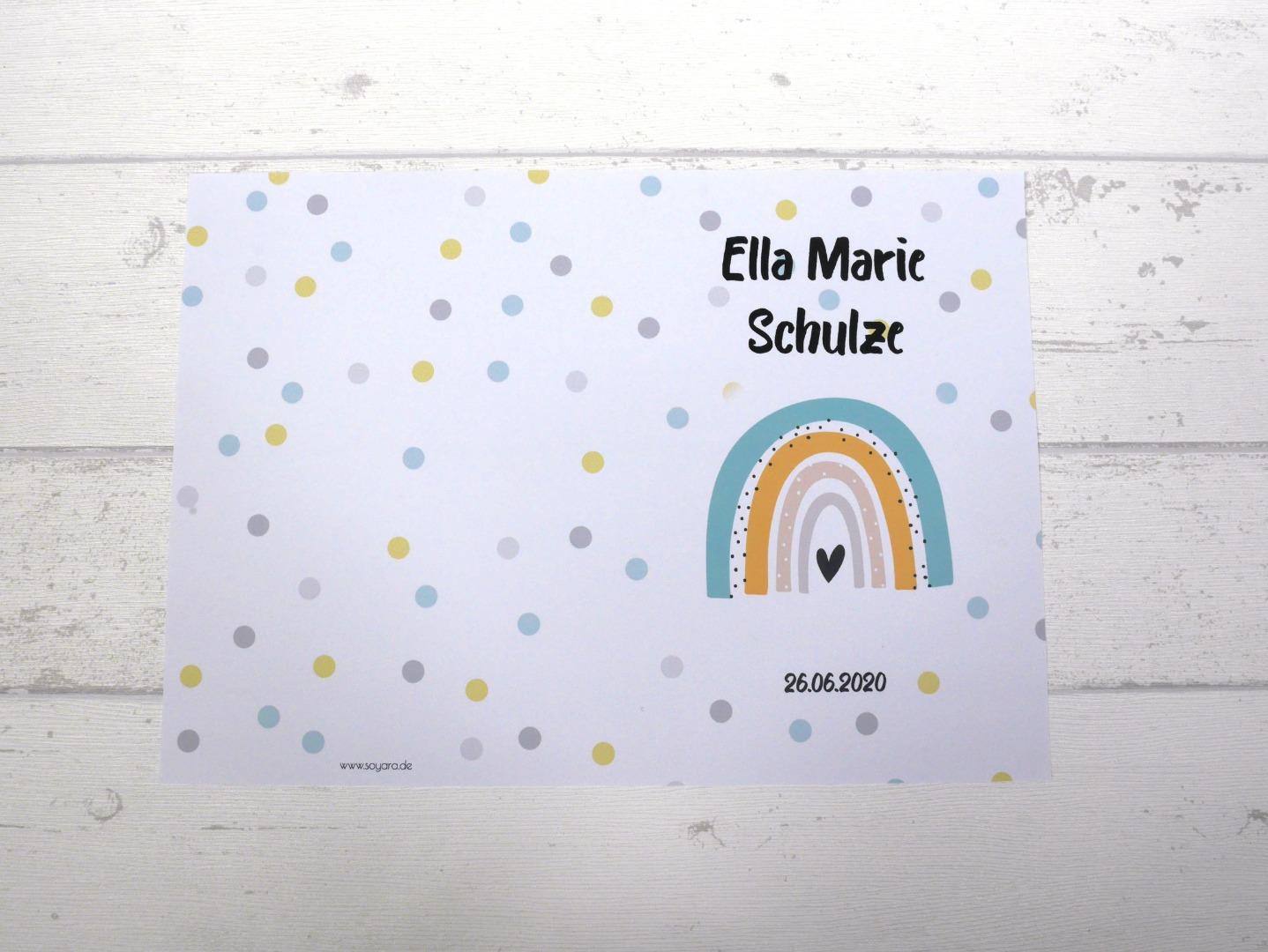 U-Heft Hülle Regenbogen mit Impfpass Hülle