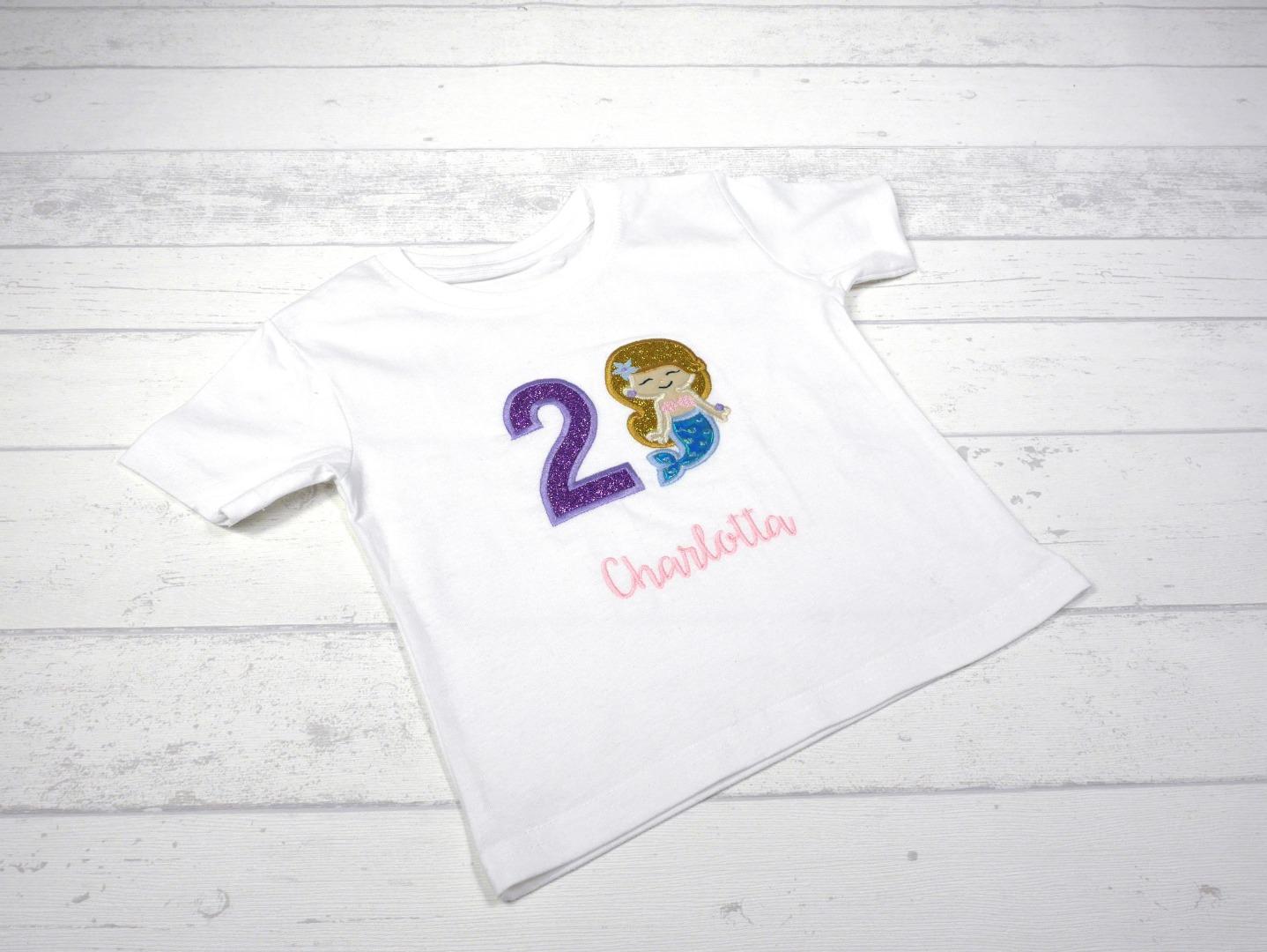 Shirt Geburtstag Meerjungfrau personalisierbar mit Name