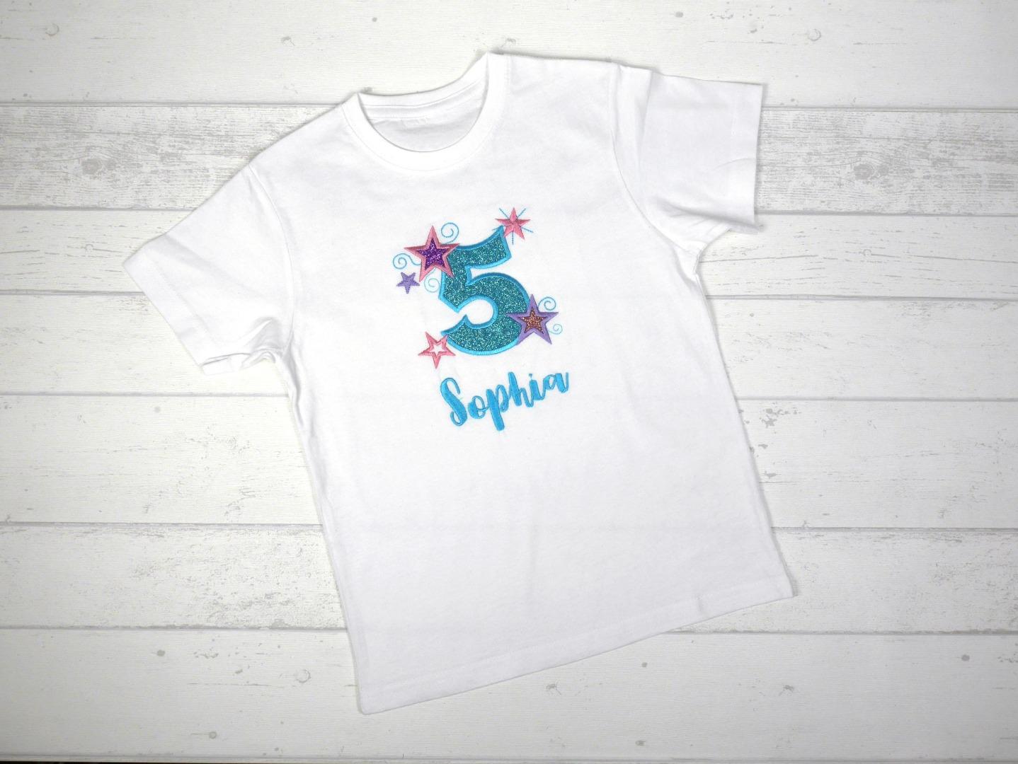 Shirt Geburtstag Sterne personalisierbar mit Name