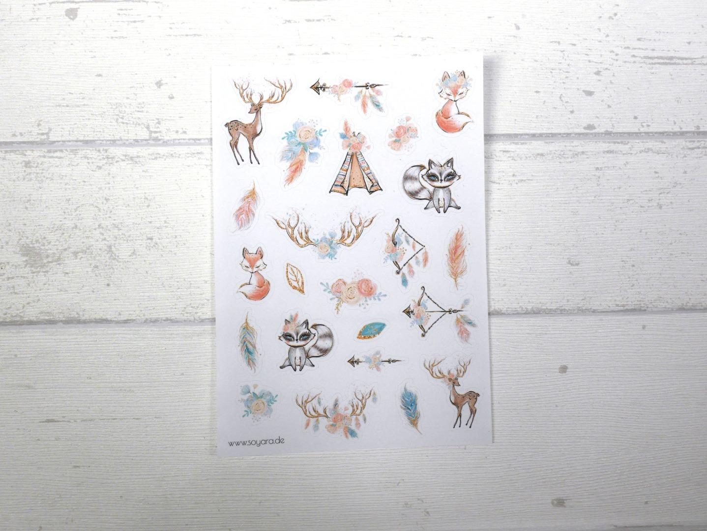 Sticker Boho Tiere
