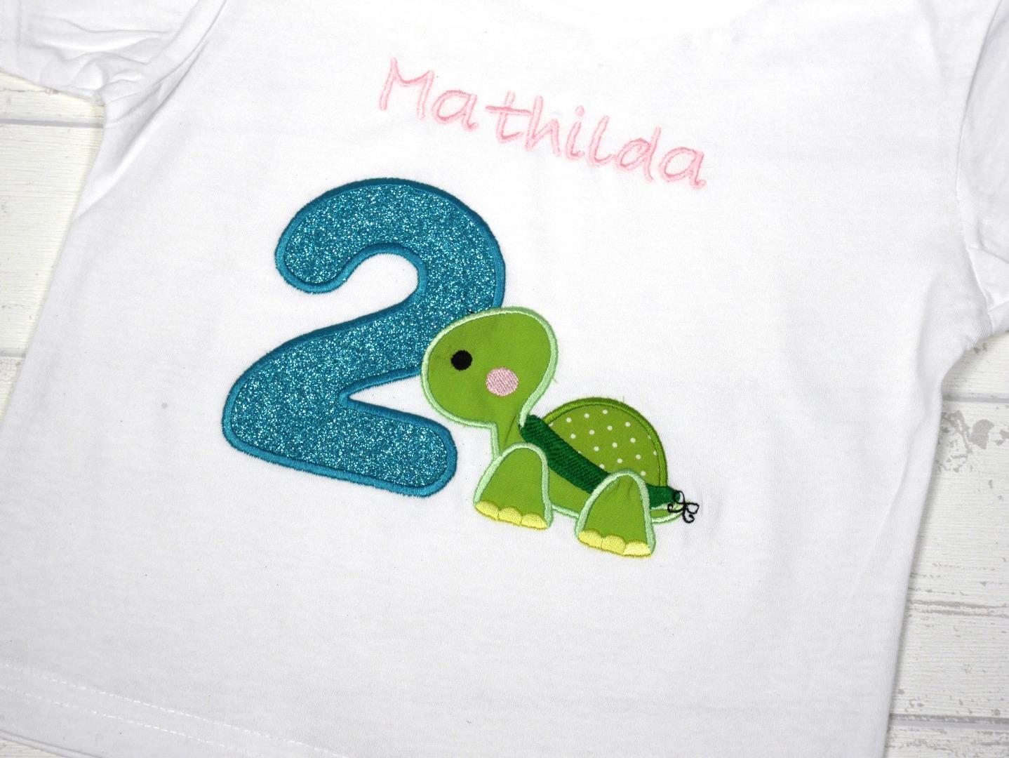 Shirt Geburtstag Schildkröte personalisierbar mit Name