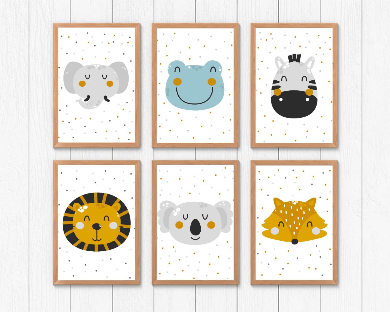 Poster Tiere Kinderposter Kinderzimmer Print Bilder