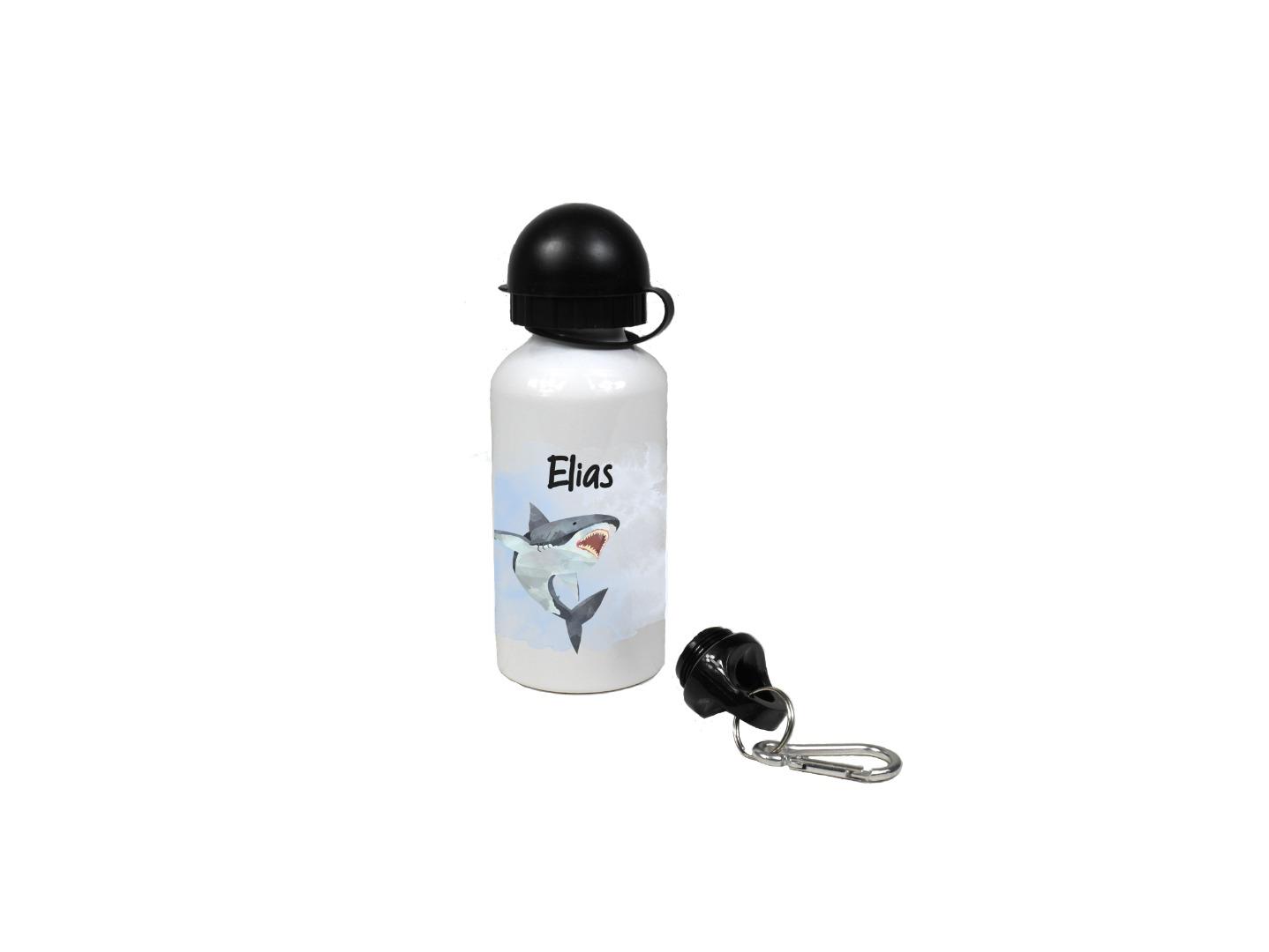 Brotdose mit Name Trinkflasche personalisiert Hai