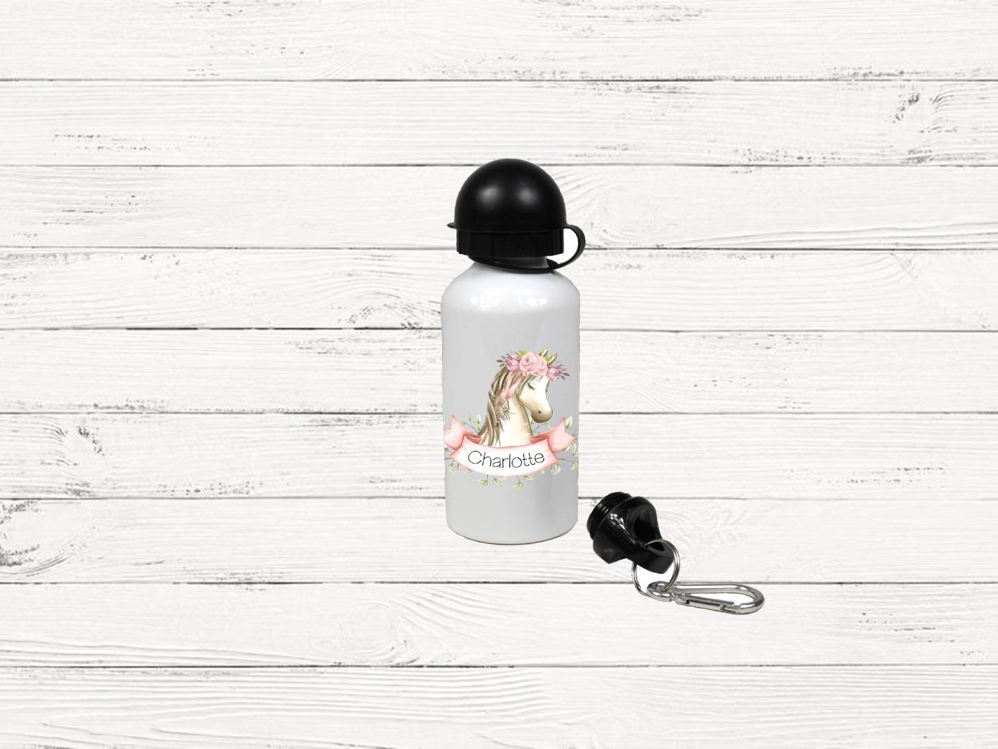 Brotdose mit Name Trinkflasche personalisiert Pferd