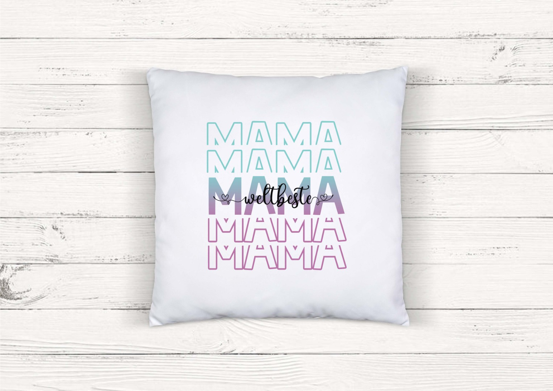 Kissen mit Spruch weltbeste Mama