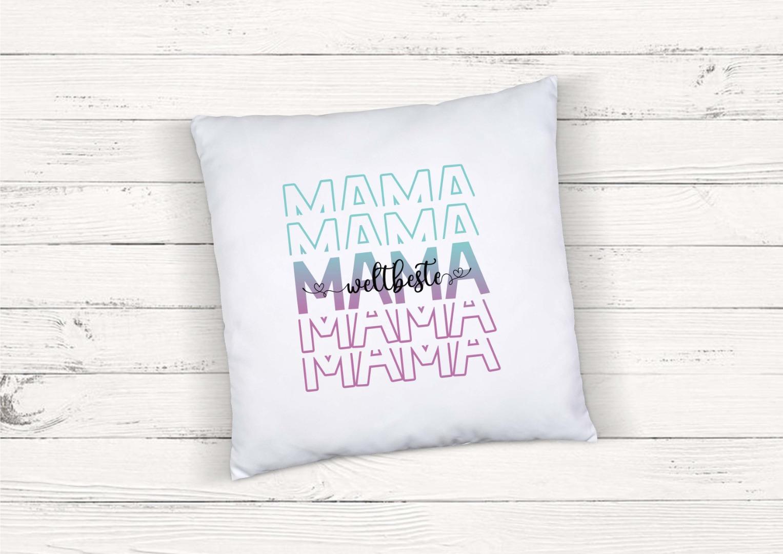 Kissen mit Spruch weltbeste Mama 2