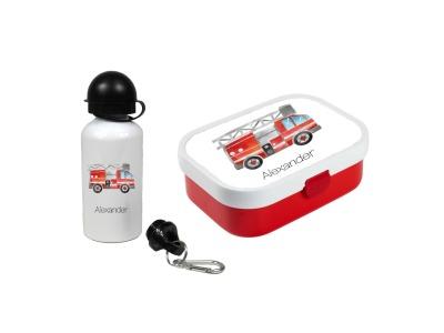 Brotdose mit Name Trinkflasche personalisiert Feuerwehr