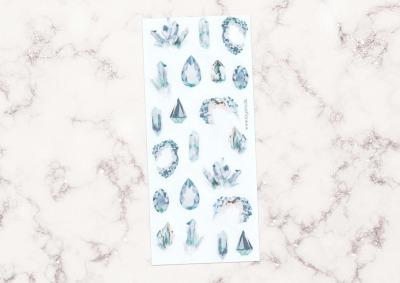 Sticker Gemstones blau