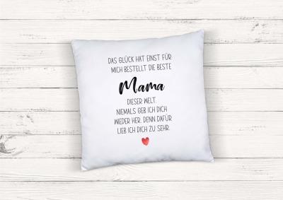 Kissen mit Spruch Beste Mama
