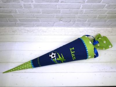 Schultüte aus Stoff Fußball Zuckertüte