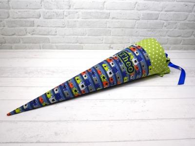 Schultüte aus Stoff Monster Zuckertüte Stoffschultüte